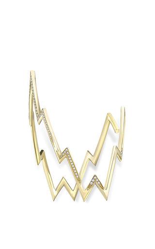 Yellow Gold Miss Zeus Arm Cuff by Venyx for Preorder on Moda Operandi