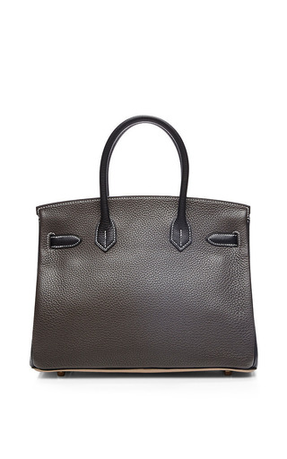Hermes 30Cm Argile, Graphite, & Black Clemence Birkin by Heritage Auctions Special Collection for Preorder on Moda Operandi