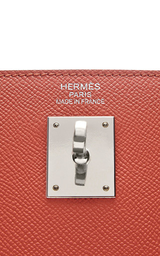 Hermes 35Cm Flamingo Pink Epsom Sellier Kelly by Heritage Auctions Special Collection for Preorder on Moda Operandi