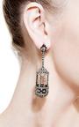 Diamond Birdcage Earrings by Bochic for Preorder on Moda Operandi