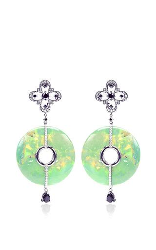 Bochic - Green Turquoise And Diamond Earrings
