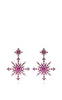 Bochic - Ruby And Diamond Snowburst Earrings