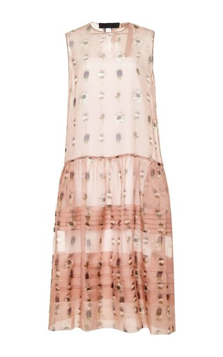 Silk floral sleeveless dress by NO. 21 Available Now on Moda Operandi