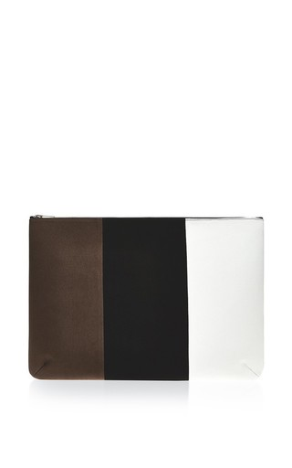 Colorblocked clutch by VANITIES Now Available on Moda Operandi
