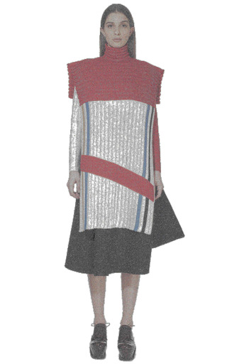 Paneled Wool-Knit Sweater by J.W. Anderson for Preorder on Moda Operandi