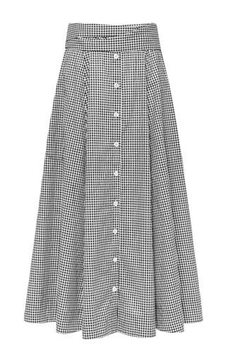 """Beach Skirt 1/9   -   1/4"""" gingham by Lisa Marie Fernandez for Preorder on Moda Operandi"""
