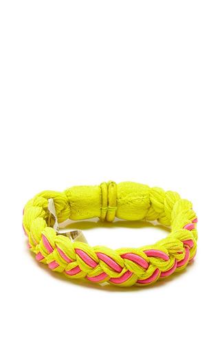 Roarke nyc sole bracelet in yellow with pink by ROARKE NYC Preorder Now on Moda Operandi