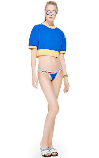Roarke NYC Sole Bracelet In Yellow with Blue Stripe by ROARKE NYC for Preorder on Moda Operandi