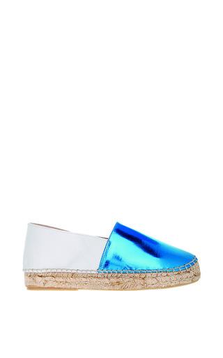 Lika mimika classic upgrade in shiny blue white by LIKA MIMIKA Preorder Now on Moda Operandi