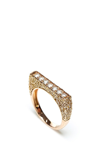 Jane taylor rose gold diamond ring by JANE TAYLOR Preorder Now on Moda Operandi