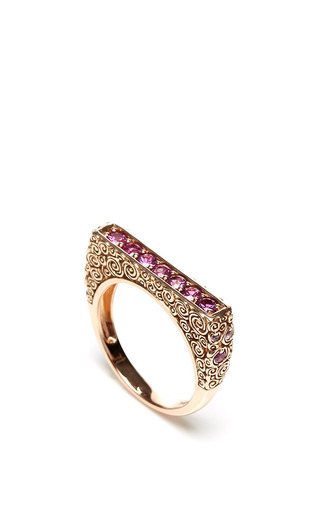 Jane taylor pink sapphire ring by JANE TAYLOR Preorder Now on Moda Operandi