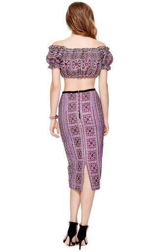 Mochi Thailand Pencil Skirt In Purple by Mochi for Preorder on Moda Operandi