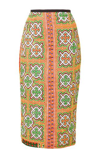 Mochi - Mochi Thailand Pencil Skirt In Yellow