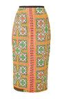 Mochi Thailand Pencil Skirt In Yellow by Mochi for Preorder on Moda Operandi