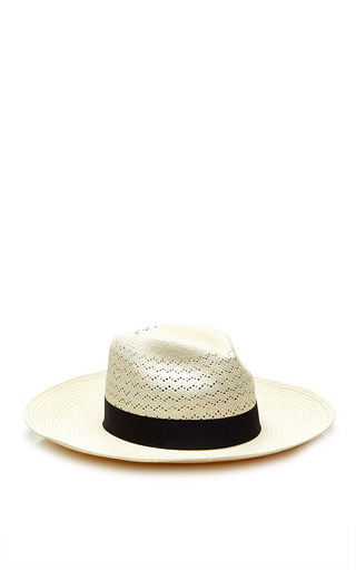 Valdez White Palmar Fedora by Valdez Panama Hats for Preorder on Moda Operandi
