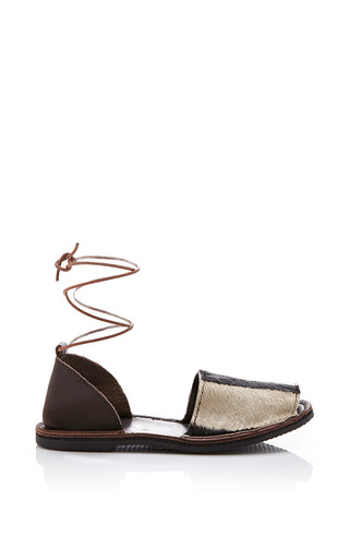 Brother vellies zebra congo sandal by BROTHER VELLIES Preorder Now on Moda Operandi