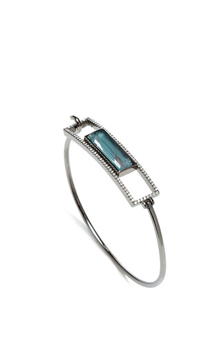 Jane taylor sea blue agate and white quartz bracelet by JANE TAYLOR Preorder Now on Moda Operandi