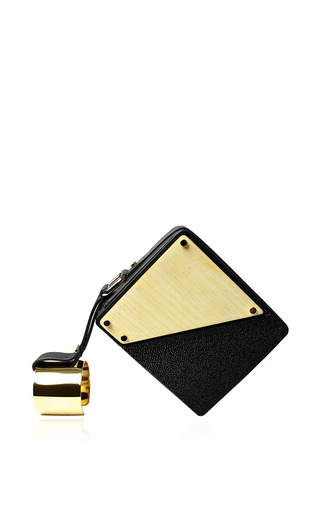 Perrin paris square cuffed clutch by PERRIN PARIS Preorder Now on Moda Operandi