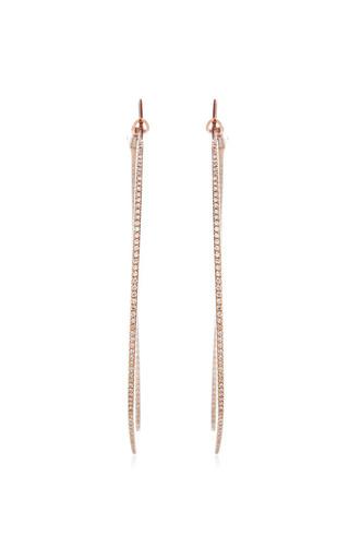 Dana Rebecca Designs - Hoop Earrings In White Diamond