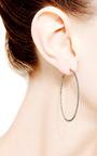 Hoop Earrings In Black Diamond by Dana Rebecca Designs for Preorder on Moda Operandi