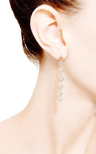 Lisa Michelle Earrings In 14K Rose Gold by Dana Rebecca Designs for Preorder on Moda Operandi