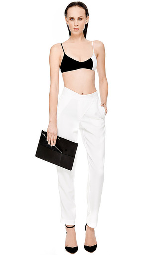 Kaelen Crepe Cross Front Pant by Kaelen for Preorder on Moda Operandi