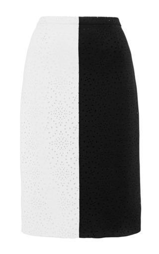 Kaelen Laser Cut Pencil Skirt by Kaelen for Preorder on Moda Operandi