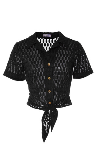Pili pili blouse by LENA HOSCHEK Preorder Now on Moda Operandi