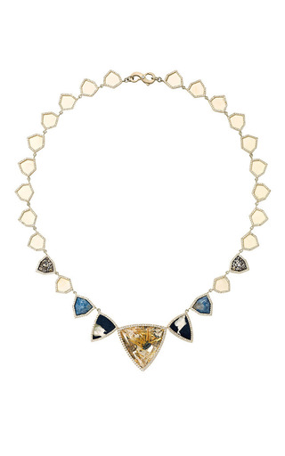 One Of A Kind Fossilized Walrus And Dinosaur Bone Necklace by Monique Péan for Preorder on Moda Operandi