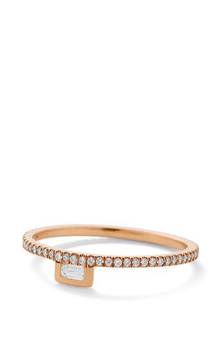 White Diamond Stacking Ring by Monique Péan for Preorder on Moda Operandi