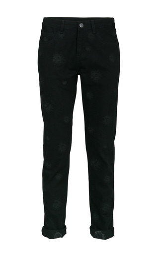 Bruna embroidered jeans by LALA BERLIN Preorder Now on Moda Operandi