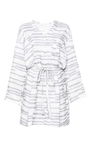 Gunnar Dress In Grey Print by Perret Schaad for Preorder on Moda Operandi