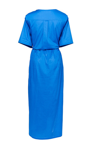 Son Dress In Blue by PERRET SCHAAD Now Available on Moda Operandi
