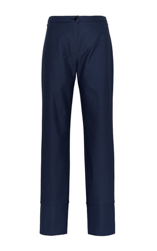 Etienne slim leg pant in grey blue by PERRET SCHAAD Preorder Now on Moda Operandi