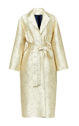 Perret Schaad - Kai Coat In Gold Laser Cut