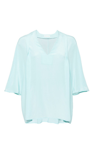 Kamil blouse in mint by PERRET SCHAAD Preorder Now on Moda Operandi