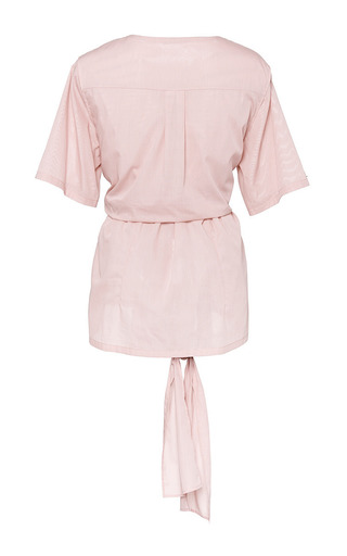 Hao Blouse In Compact Rose by Perret Schaad for Preorder on Moda Operandi
