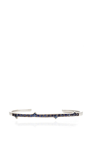 Sapphire Thorn Cuff by Sylva & Cie for Preorder on Moda Operandi