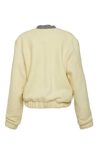 Prey Bomber Jacket In Off White by Ioana Ciolacu for Preorder on Moda Operandi