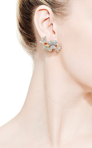Small Lotus Flower Earrings by Kwiat for Preorder on Moda Operandi