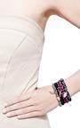 Diamond Moroccan Flower Charm Beaded Bracelet by Sydney Evan for Preorder on Moda Operandi