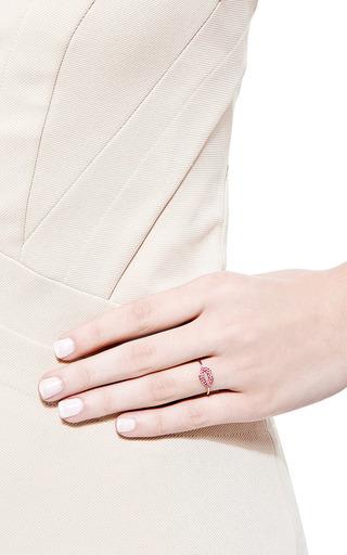 Ruby Pave Lips Ring by Sydney Evan for Preorder on Moda Operandi