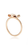 Rose Gold Ribbon Ring by Sydney Evan for Preorder on Moda Operandi