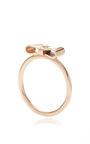 Rose Gold Ribbon Ring by Sydney Evan for Preorder on Moda Operandi
