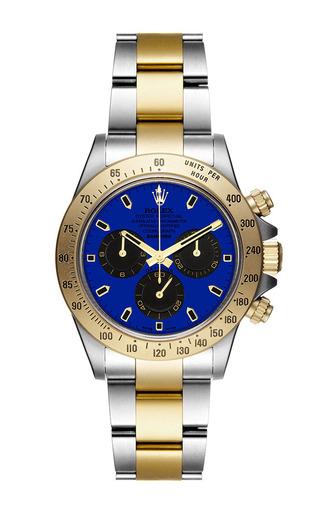 Bi-colour daytona with blue dial by BAMFORD WATCH DEPARTMENT for Preorder on Moda Operandi