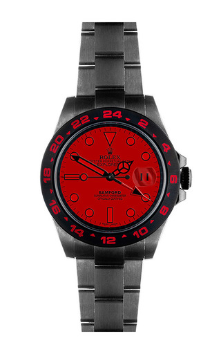 Explorer Ii Scuba With Bwd Red Dial by BAMFORD WATCH DEPARTMENT for Preorder on Moda Operandi