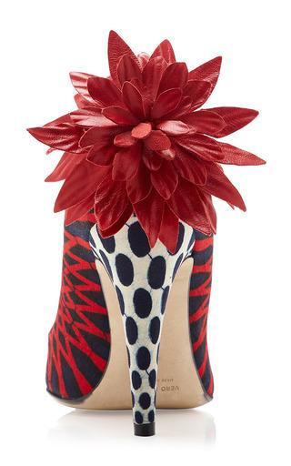 ZAIRE Sunflower Pumps by Lena Hoschek for Preorder on Moda Operandi