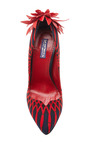 ZAIRE Sunflower Pumps by Lena Hoschek for Preorder on Moda Operandi