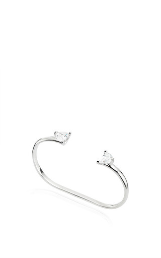 Solitaire Bisected Ring Opened On Two Fingers by Maison Margiela for Preorder on Moda Operandi