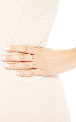 Maison Margiela - Solitaire Bisected Ring Opened On Two Fingers